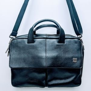 Knomo London Leather Laptop Bag